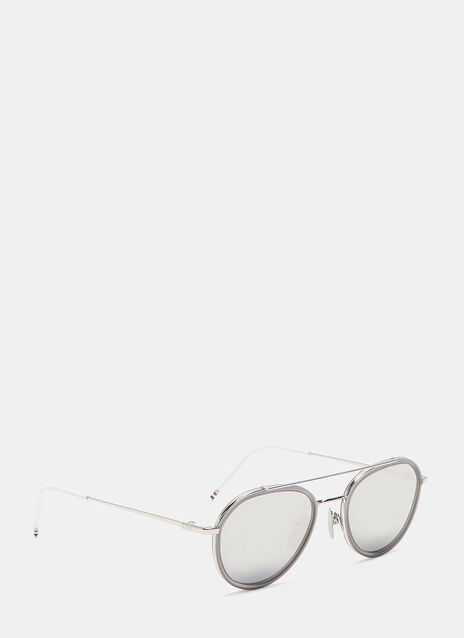 Teardrop Aviator Mirrored Sunglasses