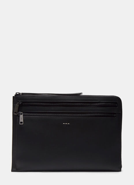 Grace Zipped Leather Document Case