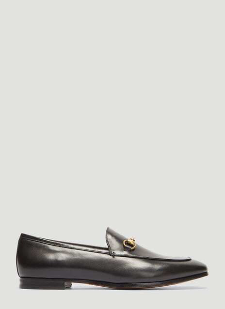 구찌 조르단 로퍼 - 블랙 Gucci Jordaan Leather Loafer in Black