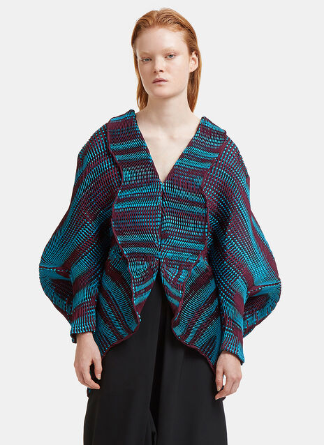Aurora Oval Three-Dimensional Cardigan