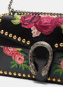 Dionysus Floral Embroidered Shoulder Bag
