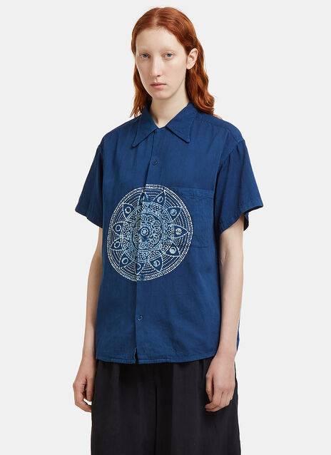 Story Mfg. Shore Batik Short Sleeved Shirt