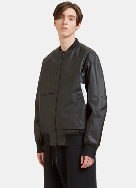 Rubberised Bomber Jacket