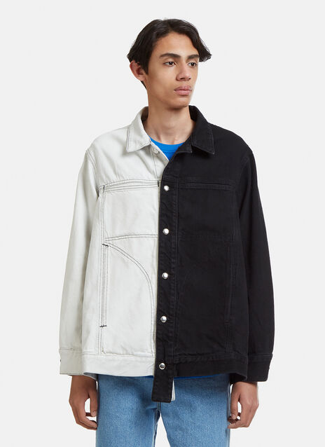 Eckhaus Latta Two-Tone Dip-Dyed Denim Jacket