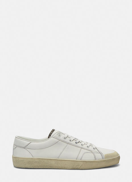 SL/37 Studded Low-Top Distressed Sneakers