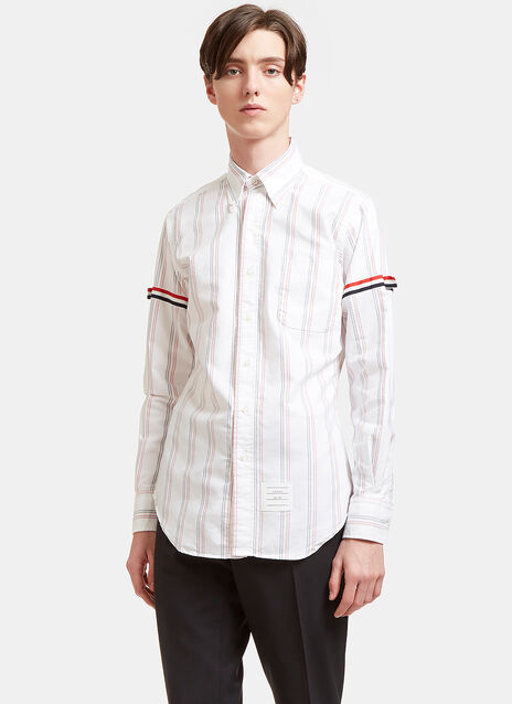 Railway Striped Grosgrain Ribbon Armband Shirt