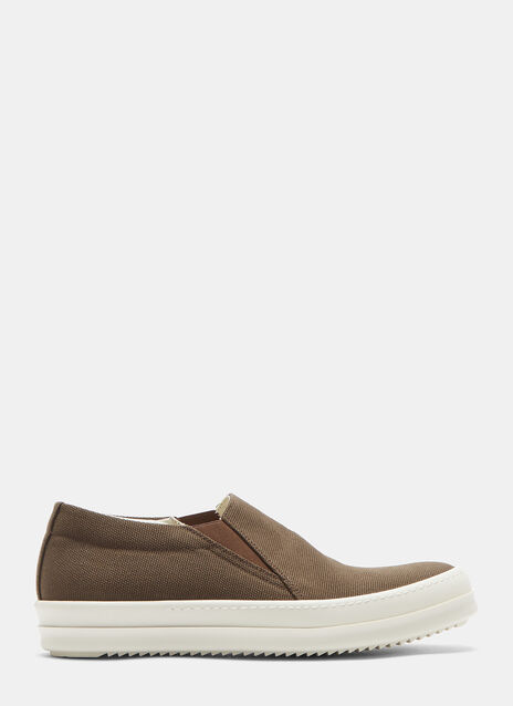 Rick Owens Drkshdw Deck Canvas Slip-On Sneakers