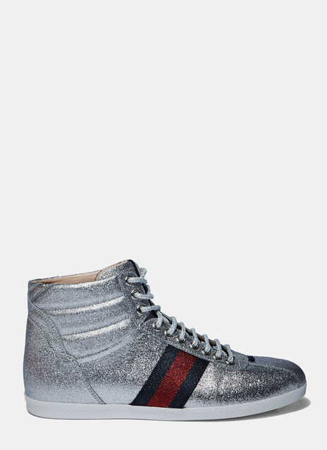 Sparkly High-Top Sneakers