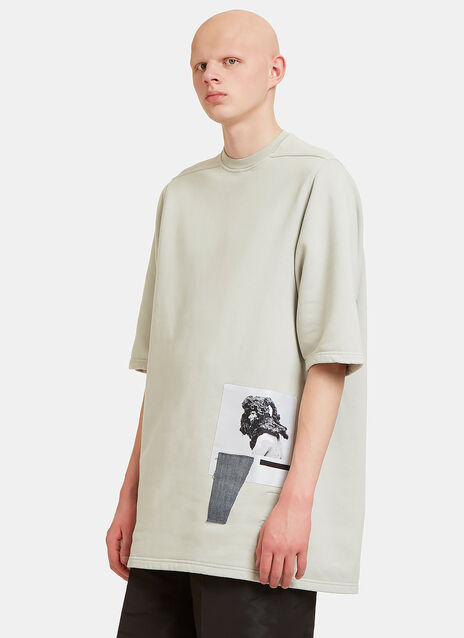 Oversized Patch Sweat T-Shirt