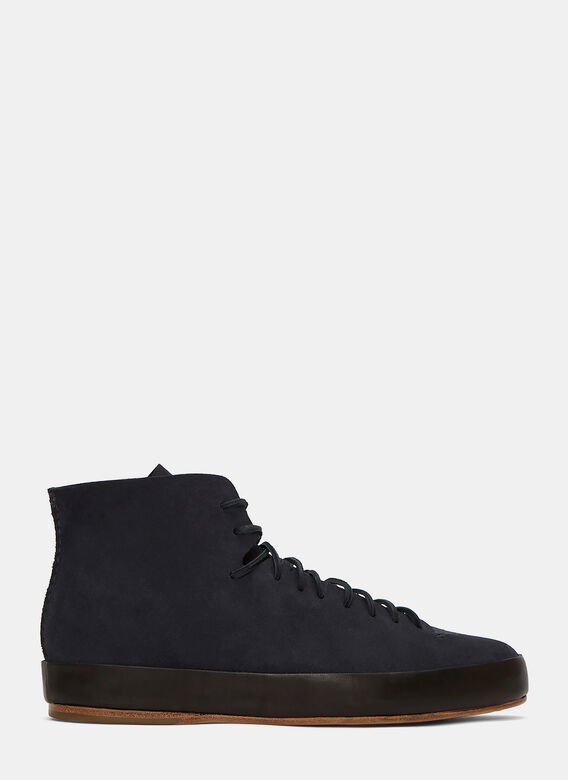 Feit Hand Sewn High-Top Suede Sneakers
