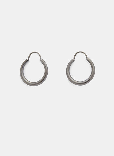 Hungry Snake Ruthenium Polished Earrings