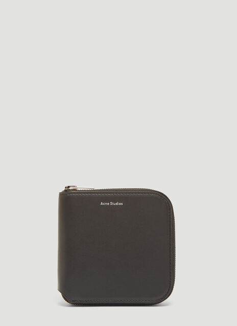 아크네 스튜디오 Acne Studios Csarite Leather Zip Around Wallet in Black