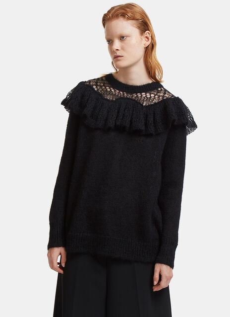 Stella Mccartney Frilled Mohair Knit Sweater