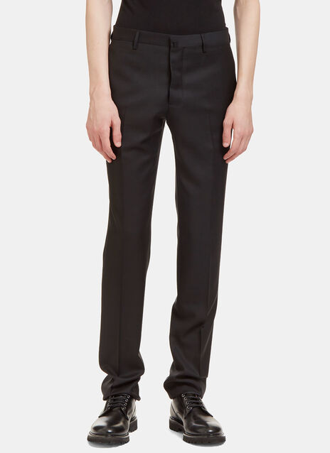 I Virgin Wool Slim Leg Tailored Pants