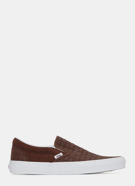 Suede Checkers Slip-On Sneakers