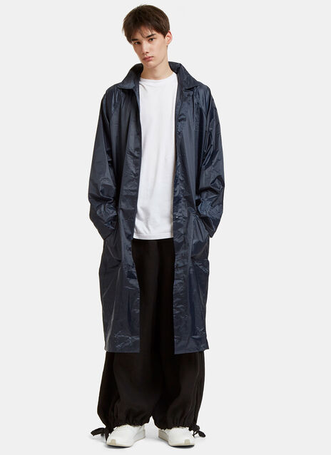 Oversized Logo Embroidered Raincoat