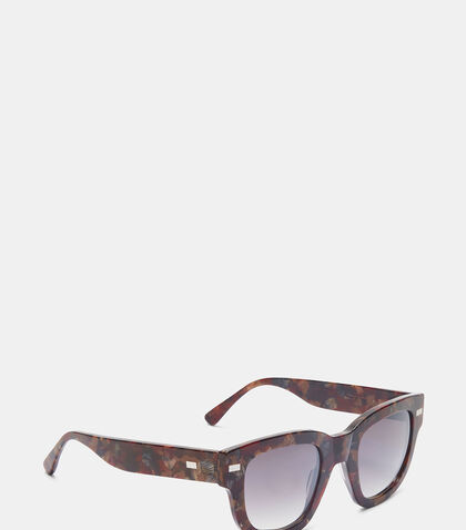 Square Frame Metal Sunglasses