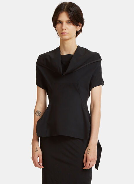 Judith Draped Angled Hem Top