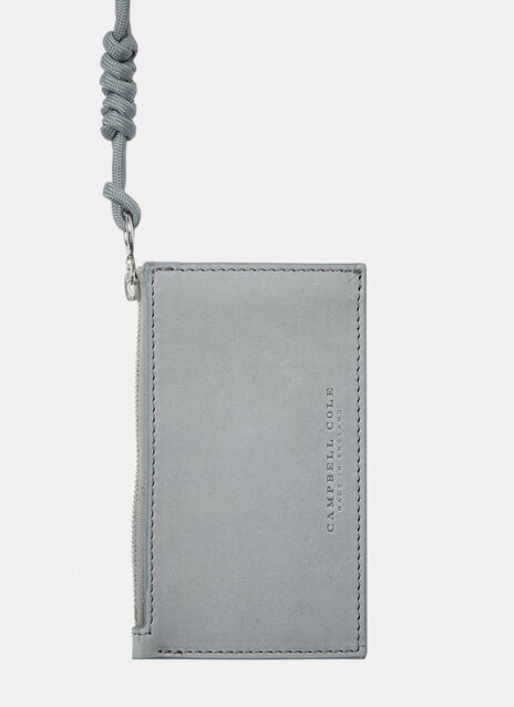 Simple leather Coin Pouch with Zip pull