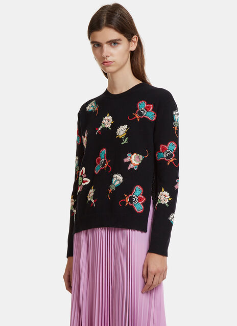 Valentino Floral Knit Sweater