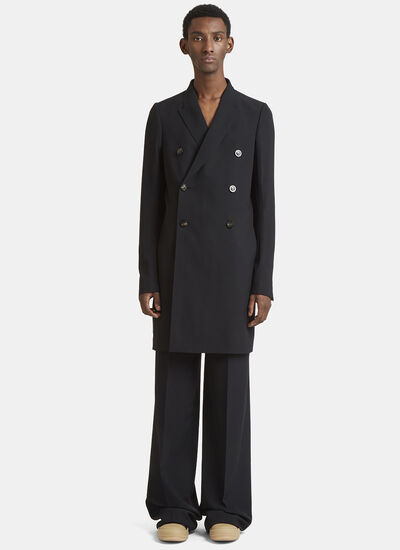 Rick Owens Double Breasted Pea Coat
