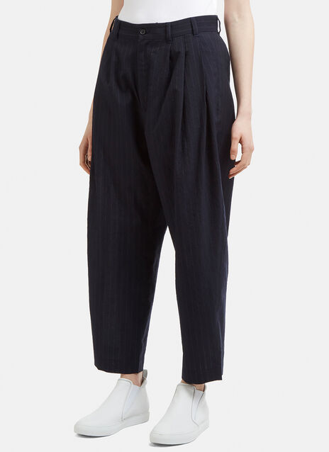 Hed Mayner Pinstripe Tapered Pants