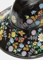 Gucci Patent Floral Embroidered Hat