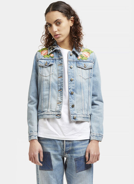 Embroidered Patch Denim Jacket