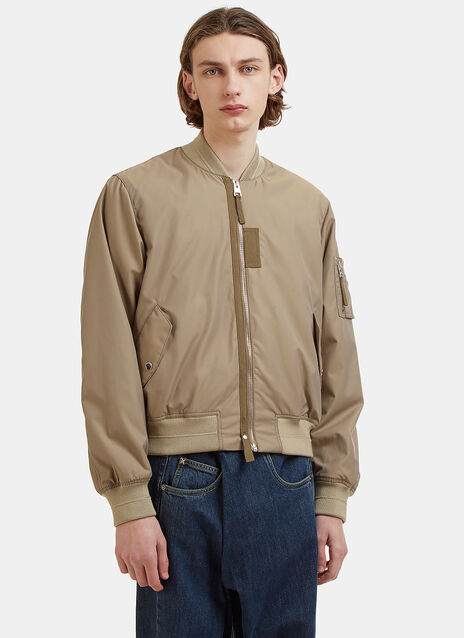Baseball Card Patch Bomber Jacket