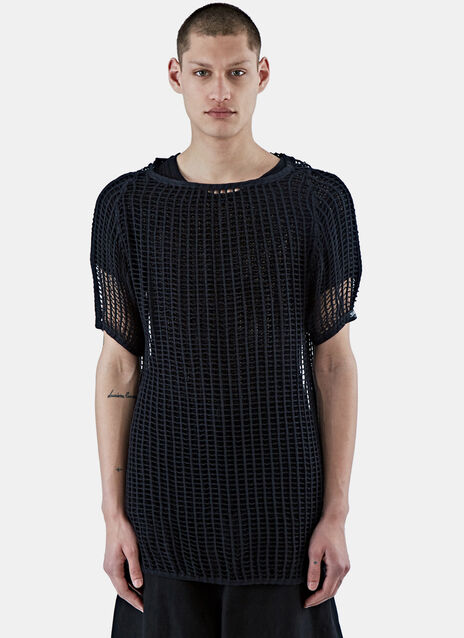 Ken Oversized Mesh Knit T-Shirt