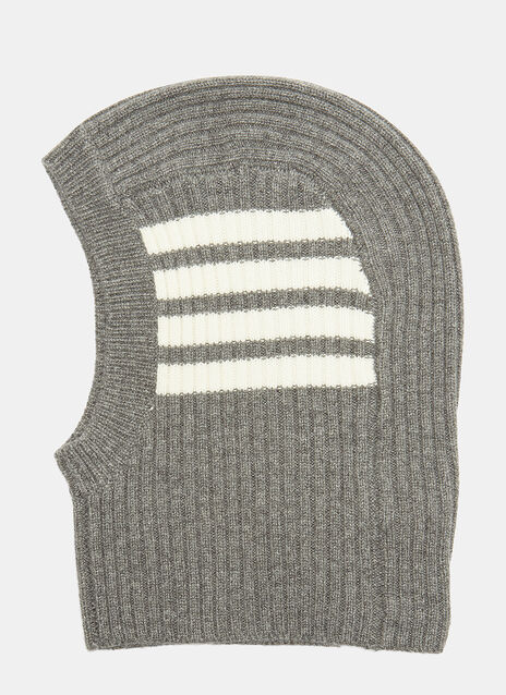 4 Bar Stripe Ribbed Balaclava