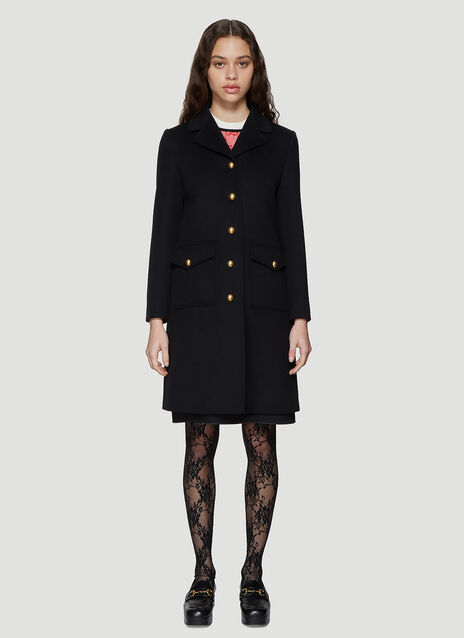 Gucci Classic Tailored Wool Coat