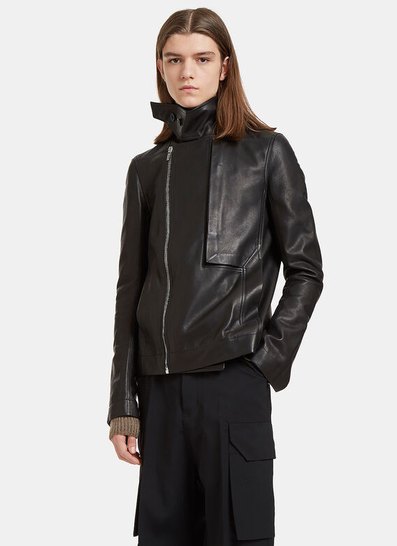 Rick Owens Rick Ownes Leather Trench Bomber
