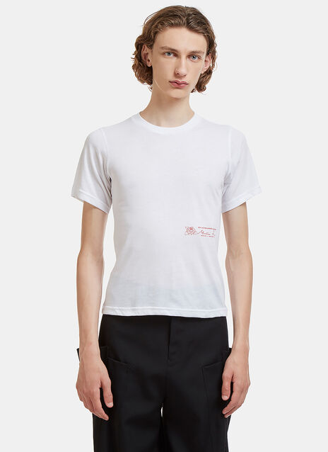 Logo Print Slim Crew Neck T-Shirt