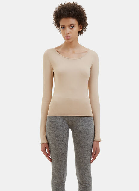 Roso Scoop Neck Stretch Top