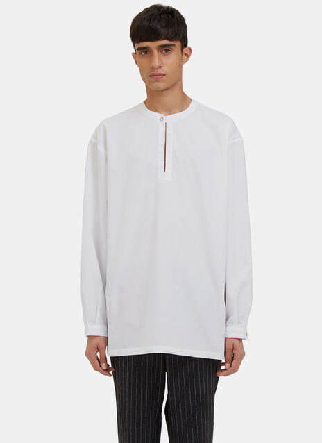 Oversized Henley Shirt