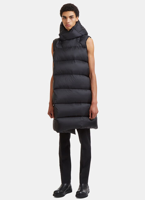Liner Wrap Sleeveless Down Jacket