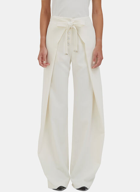 High-Waisted Wide Leg Wrap Pants