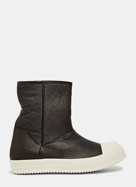 Rick Owens Shearling Ankle Boots