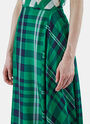 Darmouth Long Asymmetric Checked Skirt