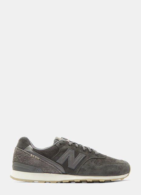 996 Textured and Perforated Suede Sneakers