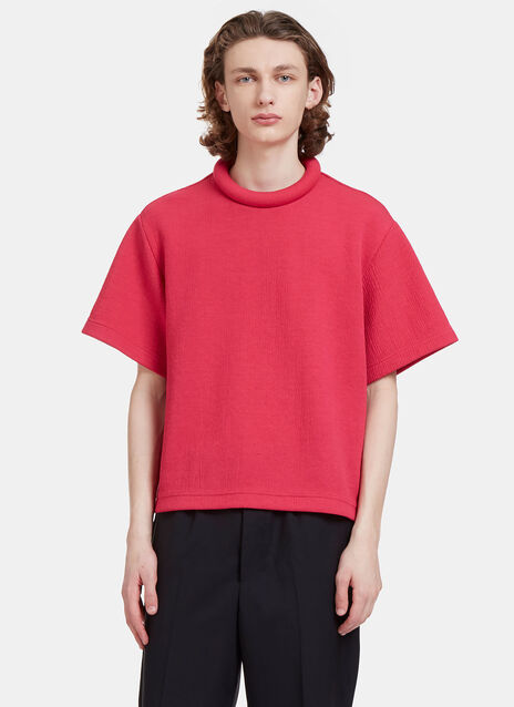 Rufus Textured Padded Ring Collar T-Shirt