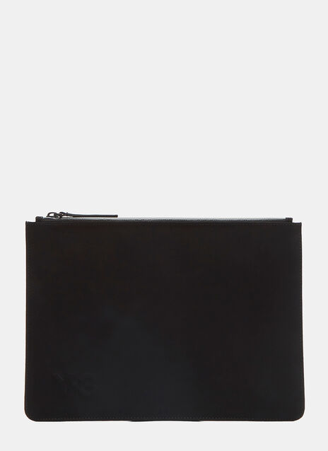 Large Suede Leather Pouch