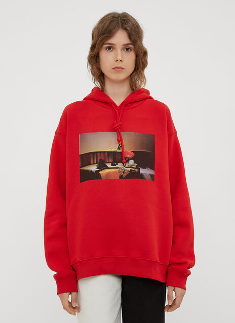 Rose Graphic Hooded Sweatshirt