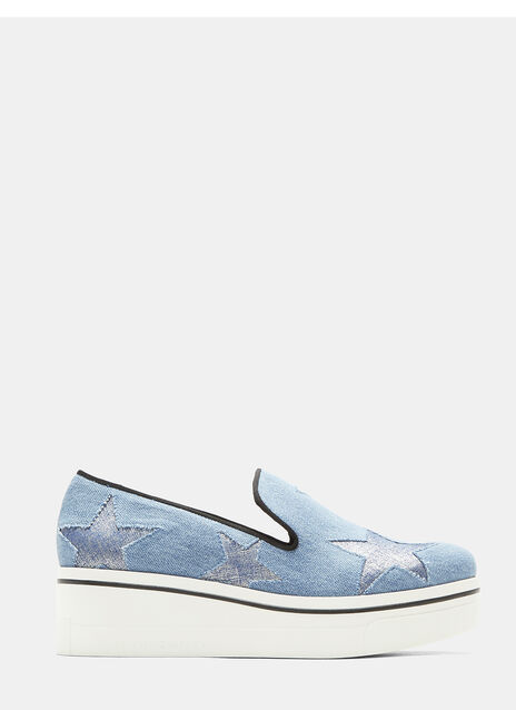 Binx Stars Denim Loafer Platform Sneakers