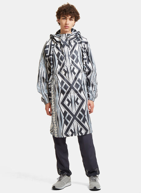 Landscape Printed Artwork Poncho Jacket