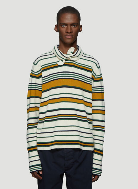 JW앤더슨 JW Anderson Striped Knit Sweater in White