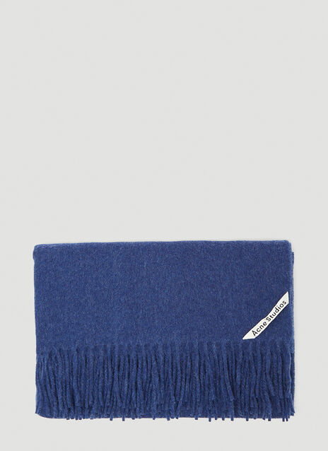 아크네 스튜디오 Acne Studios Canada Fringed Scarf in Navy