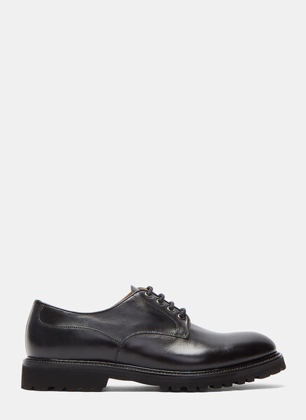 Vibram Soled Buffed Derby Shoes