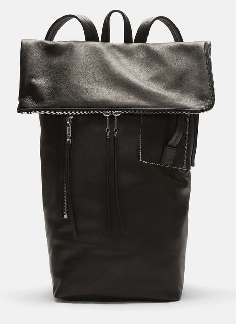Rick Owens Large Leather Duffle Bag